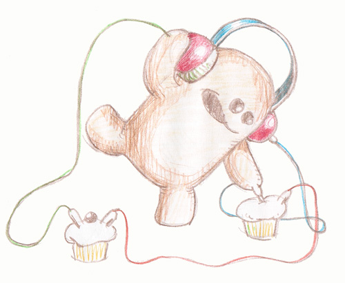 one meemoo mixing cupcakes